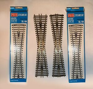 HO Scale track Peco Code 100 NICKEL SILVER LONG CROSSINGS - 2