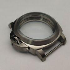 parnis titanium brushed case 44mm  Fit 6497/6498 movement suitable  A976