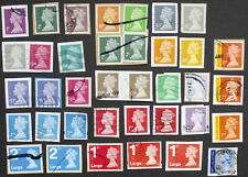GB Machin Definitive Security Stamps Used