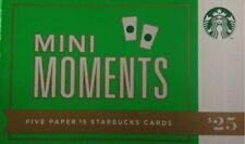 "STARBUCKS 2012  ""MINI MOMENTS"" PAPER ORIGINAL GIFT CARD BOOKLET"