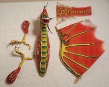 NEW 3D Kite Silk, Nylon, Paper Mache & Bamboo Sticks Chinese Dragon _Red/ Yellow