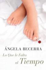 Lo Que le Falta al Tiempo: Novela (Spanish Edition)