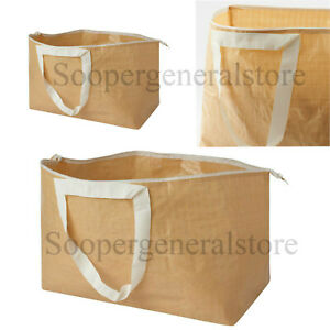 Large Carrier Zipper Bag Grocery Zip Clothes Laundry Waste Storage Re-Usable Bag