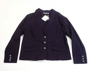 Croft & Barrow Women's Jacket Blazer Plum Purple Stretch Pockets 3-Button Size L