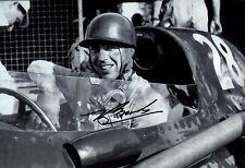 Tony Brooks Vanwall Winner Italian Grand Prix 1958 Signed Photograph 1