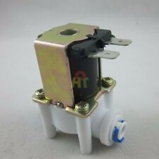 "DC 12V 1/4"" Inlet Feed Water Quick Connect Solenoid Valve for RO Reverse Osmosis"