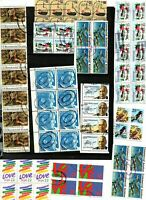 Lot timbres USA par blocs lot 1