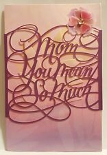 American Greetings PREMIER 3D Mothers Day Cut Out Words Greeting Card $7.99