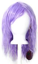 14'' Crimped Shoulder Length w/ Short Bangs Lavender Purple Cosplay Wig NEW