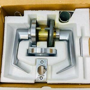 Schlage D80LD RHO 626 Storeroom Lock Set with 1-Side Key Lock Lever Satin Chrome