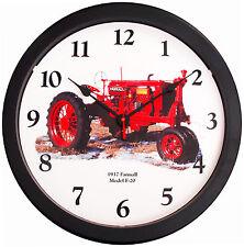 "New Vintage 1937 McCormick Farmall Model F-20 Tractor Wall Clock Massive 14"""