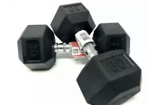 30 lb Rubber Hex Dumbbells Set/Pair (60lbs TOTAL) - NEW - Weider - Ships Fast