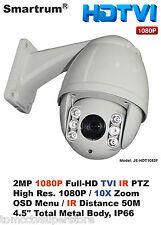 "Smartrum 10X zoom 2MP 4.5"" 1080P FULL HD TVI PTZ Day/Night CAMERA"