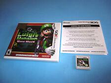 Luigi's Mansion Dark Moon (Nintendo 3DS) XL 2DS Game w/Case & Insert