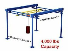 Gorbel Free Standing Workstation Bridge Crane 4000 Lb Capacity 10 Ft Span 23 Fo