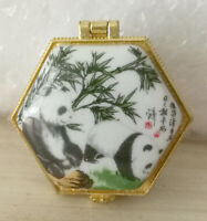 Jewelry box painted animals Chinese Panda for one piece free shipping for buyers