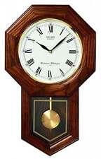 *BRAND NEW* Seiko Oak Case Schoolhouse Pendulum Clock Watch QXH102BC