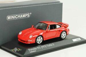 Porsche 911 993 Turbo S 3.6 Indischrot Red 1998 1:43 Minichamps Diecast 300pcs
