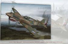 Curtiss P-40E AVG Hell's Angels R.W. Prescott Aviation Art Canvas print