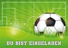 EINLADUNGEN ZUR FUSSBALL PARTY   6 Einladungskarten Zum Kindergeburtstag
