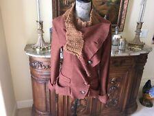 Anthropologie Gro Abrahamsson Cinnamon color wool jacket New XL 8/10 ladies