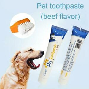 1pc Pet Toothbrush and Toothpaste Kit Dogs Cats Teeth Care Cleaning  C5N7