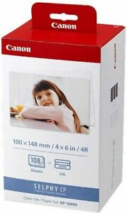 Canon KP-108IN Thermal 3 Cartridges +108 Sheet Paper 10x15