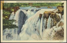 1941 - Pigeon River Falls - Minnesota Arrowhead Country - Used & Posted