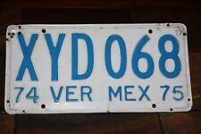 1974  / 1975 VERACRUZ Mexico  License Plate * * * * VER  MEX  '74  '75