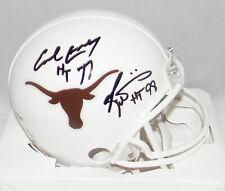 Earl Campbell Ricky Williams Signed Texas Longhorns Heisman Mini Helmet Beckett