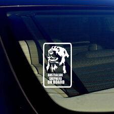 """Australian Shepherd On Board Car Window Bumper White Decal Sticker 5"""" #S43"""
