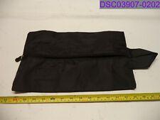 "Used Travel Season Travel Black Zip Shoe Bag 14"" x 8-3/4"""