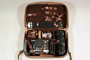 Große DDR Kamera Tasche für Zubehör Objektiv usw. für Exa Ihagee Exakta