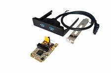 Exsys Ex-48010-2 - USB 3.0 mini PCI-Express tarjeta con 2 puertos Renesas chips