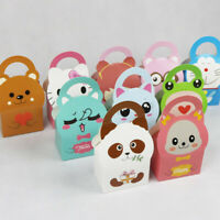 Various Cartoon Xmas Handle Cake Boxes for Wedding Party Favor Candy Paper Pack