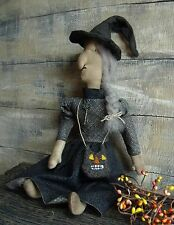 PATTERN~MY PRIMITIVE SALTBOX/FANCY FIONA/WITCH/DOLL/HALLOWEEN/CAT/PT 115