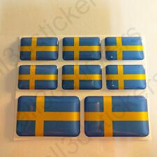 Adesivi Svezia Adesivo Bandiera Svezia Resinati 3D Resinato Resine Vinile Moto