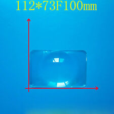 2PCS 73x112 Optical PMMA Plastic Fresnel Lens Solar Focal Length DIY Projector