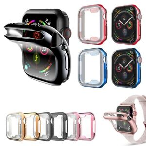 For Apple Watch Series 3/4/5/6/SE Full Protective Electroplated Gloss Cover Case