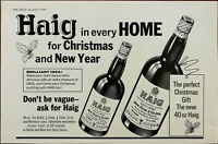 Haig Gold Label Scotch Whiskey For Christmas and New Year Vintage Advert 1966