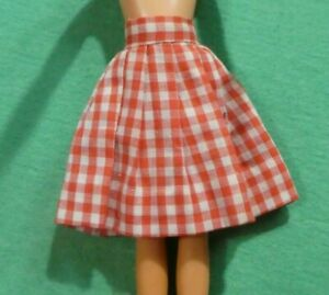 Vintage Skipper Accessory - Vintage Skipper Doll Red and White Checked Skirt