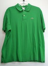 Lacoste Mens Size 6/XL Bright Green Polo Shirt     (G3)