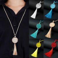 Dreamcatcher Long Tassel Pendant Necklace Fashion Handmade Beads Sweater Chain
