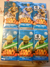 DISNEY STAR WARS COLLECTIBLE FACIAL TISSUES (5) SIX PACKS = 30 INDIVIDUAL PACKS