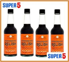 4x Hendersons Relish 284ml | THE YORKSHIRE SAUCE | Glass Bottles