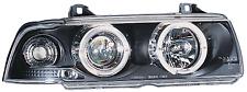 BMW Série 3 E36 92-98 Black Halo Devil Angel Eyes avant phares lumières-Paire