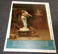 "35"" x 24"" Pygmalion and Galatea Jean-Leon Gerome MMA 1999 Art Lithograph Poster"