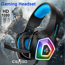 Universal Gaming-Headset Over Ear Kopfhörer+Mic Stereo Bass für PS3 PS4 Xbox One