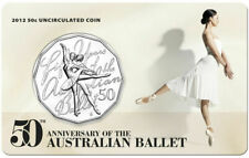 2012 Australia Fifty Cent 50c Carded Unc Coin - 50th Anniversary of Ballet