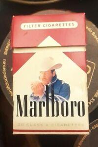 Marlboro Cowboy pacchetto vintage di sigarette (vuoto ottime condizioni).RARO